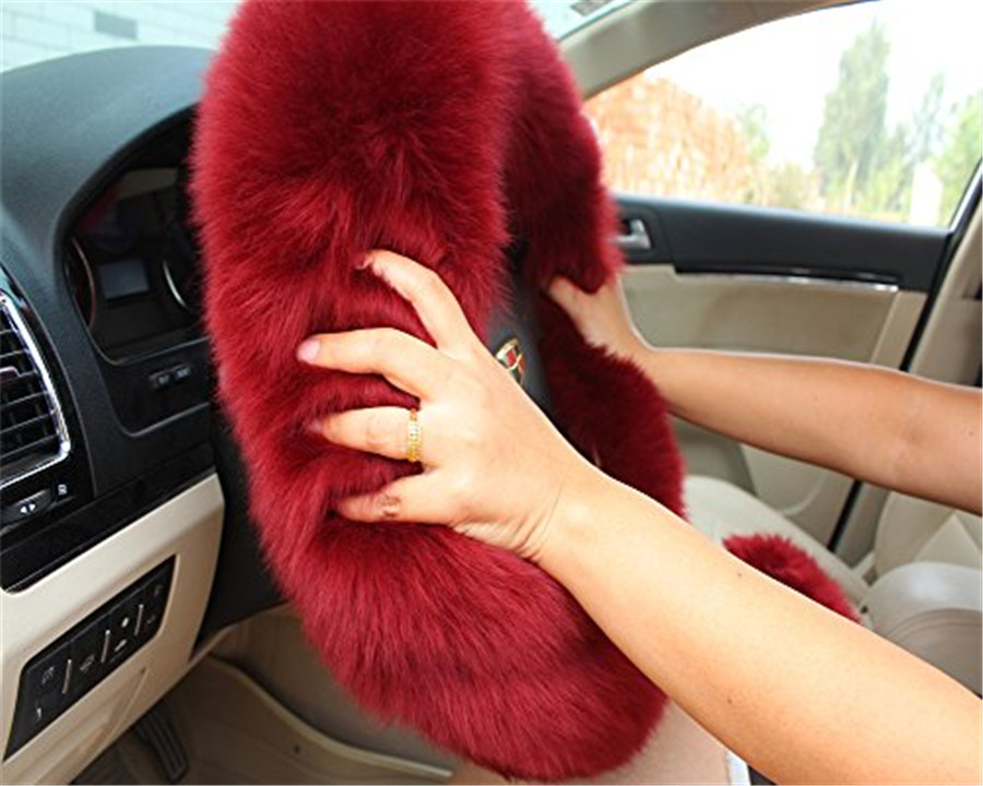 fluffy steering wheel cover